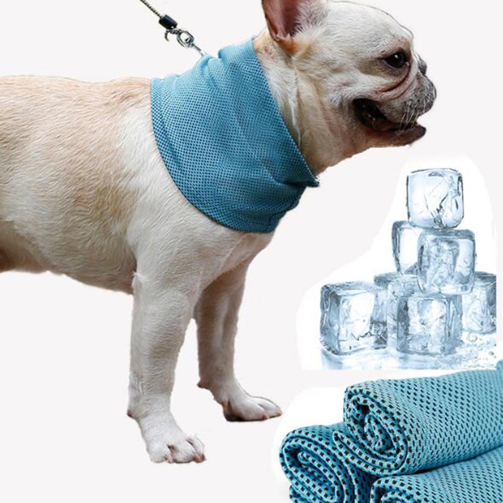 Мгновенное охлаждение бандана для животных ошейник шарф бульдог Лето охлаждение Полотенца Обёрточная бумага ошейник для собак
