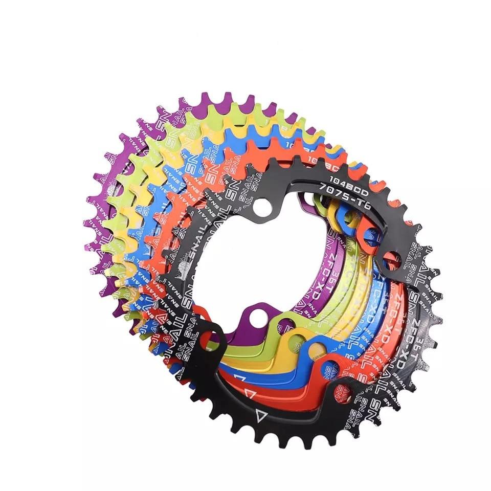 Передняя звезда SNAIL 104BCD 32T 34T 36T 38T, круглая, овальная/круглая, для горного велосипеда