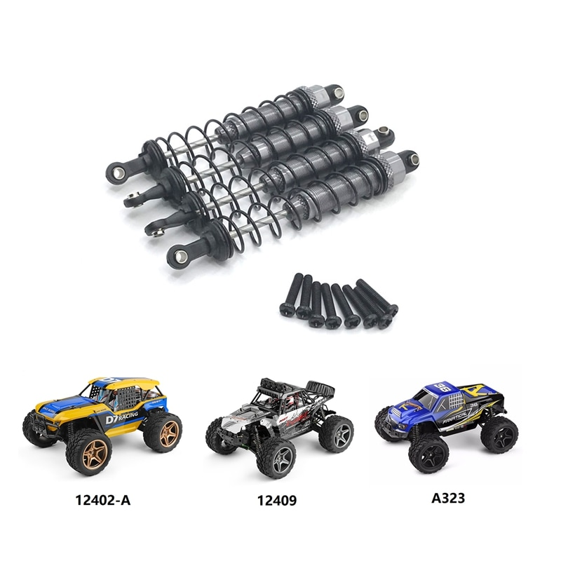 for Wltoys 12402-A A323 12409 1/12 RC Car Upgrade Parts Metal Oil Filled Front & Rear Shock Absorber Damper enlarge