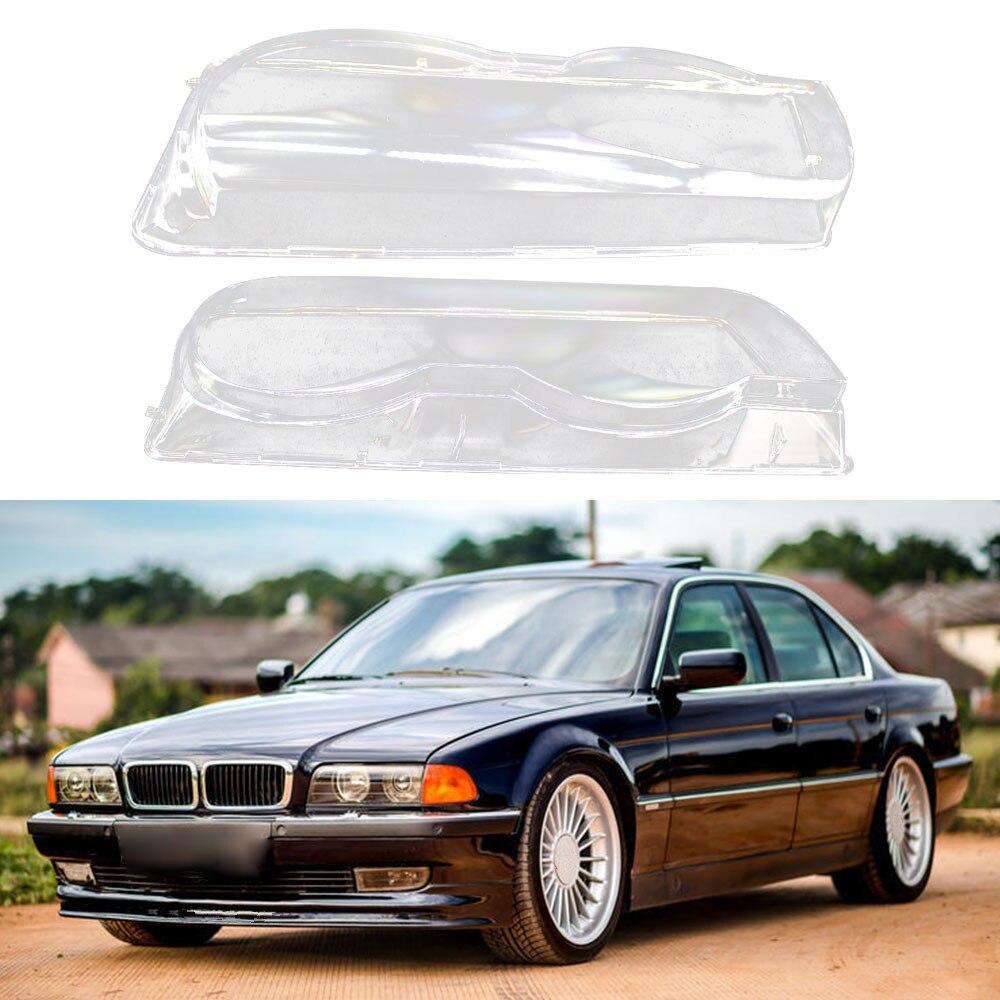 Cubierta transparente de la Lente de la lámpara de la cabeza del faro de la carcasa del coche para BMW 7 Series E38 Facelift 1999-2001