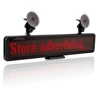 built in battery 12v led signs programmable scrolling advertising led panel display board multi purpose rechargable for car rear