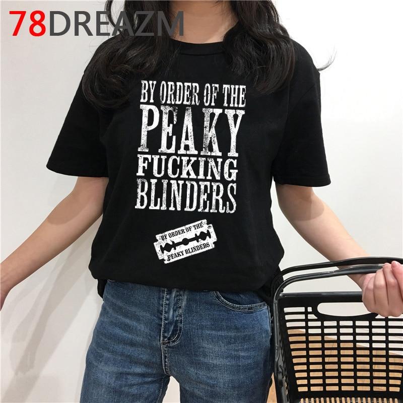 Peaky Blinders T Shirt Men Summer Top Funny Cartoon T-shirt Kawaii Harajuku Graphic Tees Oversized Unisex Plus Size Tshirt Male