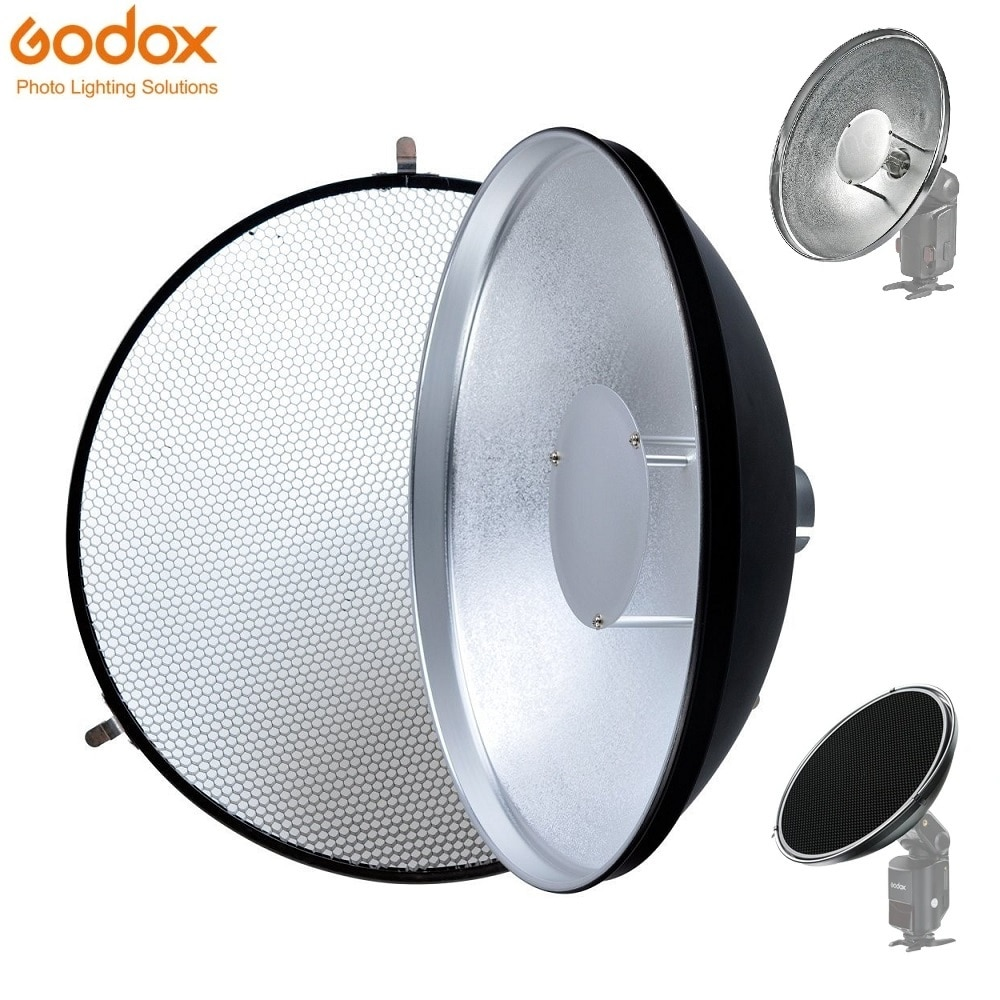 Godox الجمال طبق AD-S3 مع شبكة AD-S4 فلاش الناشر ل WITSTRO فلاش Speedlite AD180 AD360 AD200 AD360II