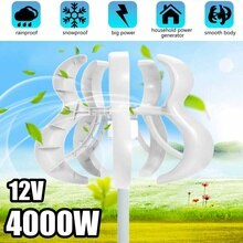 4000W 5 Blades Vertical Axi Wind Turbines Generator Lantern 12V 24V Motor Kit Electromagnetic For Home Streetlight Use