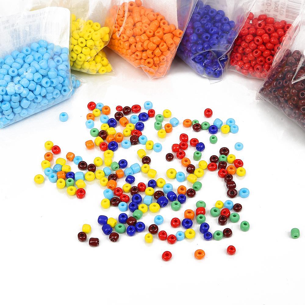 2 3 4mm colorido grânulo de vidro espaço redondo contas checa semente para diy pulseira colar jóias fazendo acessórios