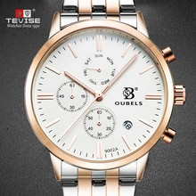 TEVISE OBS Men Watch Top Brand fashion sports quartz watch men's watch For Student Strap steel Style