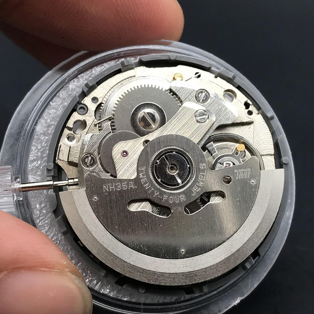Original Japan NH35A NH35 Mechanical Movement 24 Jewels With Black White Date Automatic Mechanism For Luxury Brand Watch enlarge