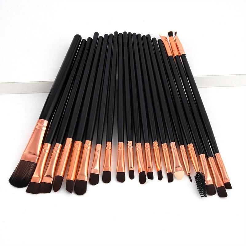1-20pcs/set Eye Shadow Blending Eyeliner Eyelash Eyebrow Make up Brushes Professional Soft Eyeshadow