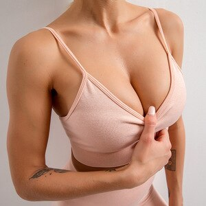 Tight-fitting yoga wear high elastic vest Sling underwear women running fitness yoga bra