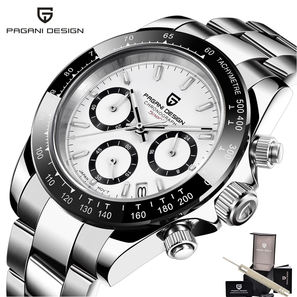 Reloj de lujo para Hombre, 100M, impermeable, deportivo, zafiro, Reloj para Hombre, diseño pagani, cronógrafo con bisel Daytona, relojes para Hombre, Reloj para Hombre 2020