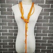 UKEBAY Новые Длинные ожерелья для женщин свитер ожерелья модный кулон, ювелирные изделия в стиле панк Роскошный Дизайн Резиновое ювелирное ожерелье подарок