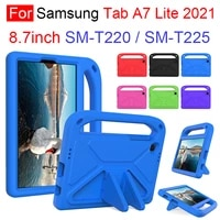 for samsung galaxy tab a7 lite 2021 8 7inch sm t220 t225 kids safe eva shockproof stand case