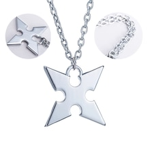 Game Kingdom Hearts Necklace Cosplay Rhombus Crown Custome Jewelry Props Silver Pendant Unisex Acces
