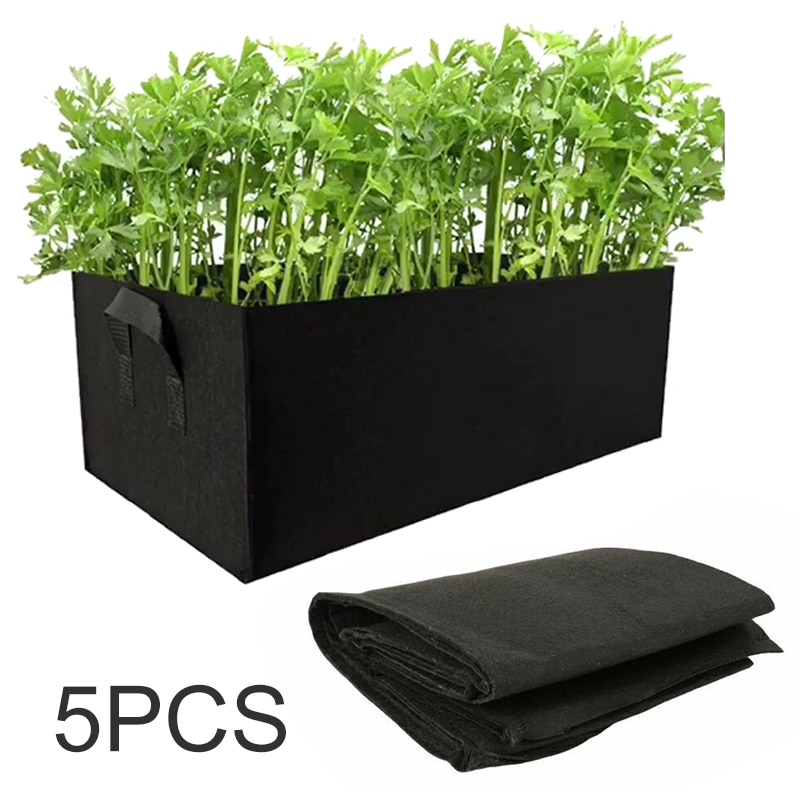 5 uds., bolsa de jardín no tejida para jardinería, flor, verdura, jardín, cama, tomate, patata, zanahoria, maceta