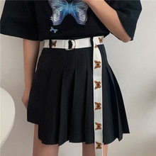 Korean Young Butterfly Canvas Belt Men and Women Student Trendy Ins Style Hip-Hop Korean Style Jeans