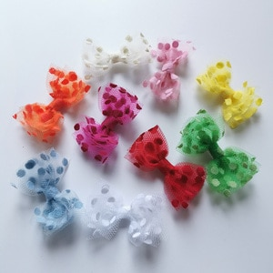 Cute Mesh Bow Clip for Baby Girls Hair Accessories Lace Dots Bow Hair Clips 2021 Kids Hairpins