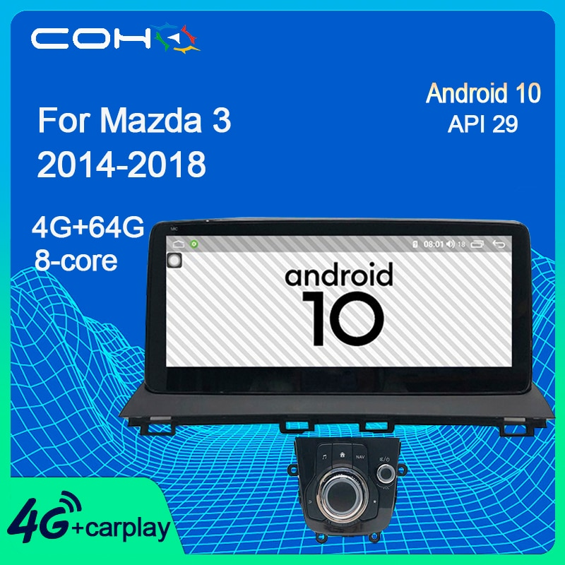 COHO For Mazda 3 2014-2018 10.25Inch Tesla Car Stereo Multimidia Car Radio Android 10 Octa Core