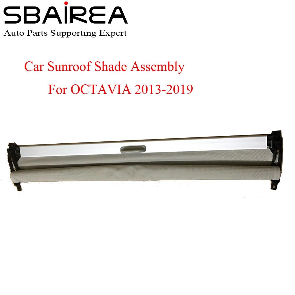 SBAIREA-مجموعة غطاء فتحة سقف السيارة ، ستارة واقية كهربائية لـ OCTAVIA ، رمادي ، بيج ، أسود ، 2013-2019