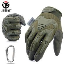 Gants militaires tactiques pour tir de Paintball   Gants militaires tactiques de Combat Airsoft, vélo de protection en caoutchouc, gant antidérapant pour hommes et femmes