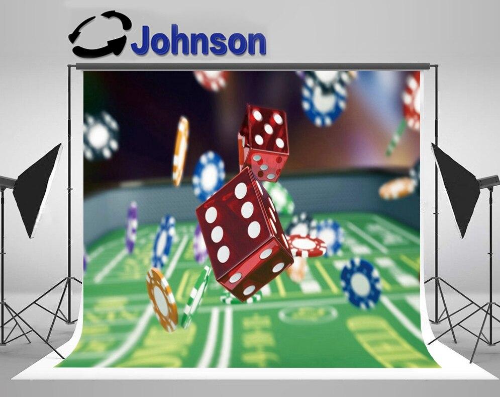 Descuento Las Vegas dados Chips Casino entretenimiento fotografía estudio Fondo ordenador impresión fiesta telón de fondo