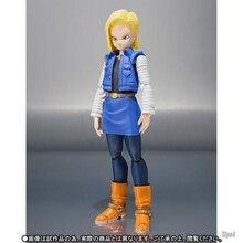 BJD Dragon Ball Z Android 18 Lazuli Sexy 13cm Kuririn femme jouets Collection Anime Action Figure corps main mobile pour cadeau