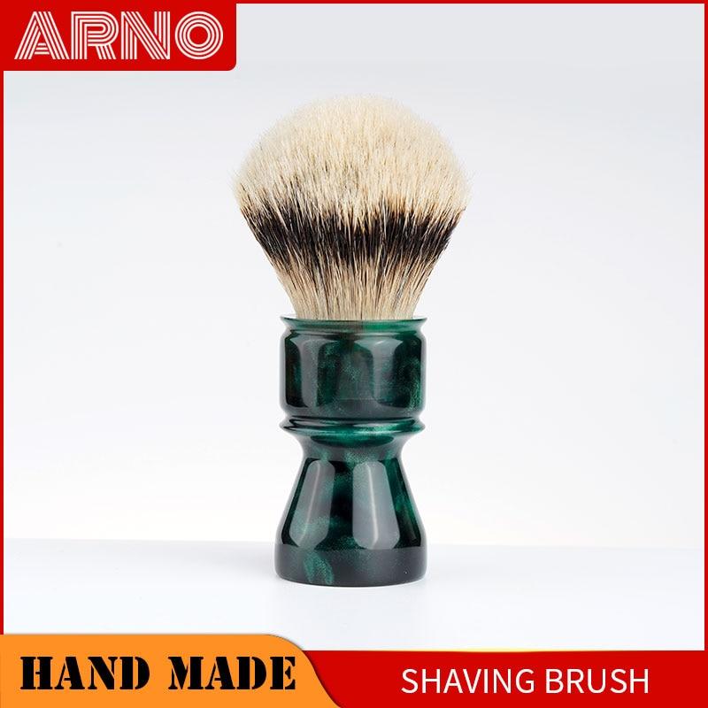 ARNOBRUSH -Shaving brush handle with badger knot Coruscant (green)