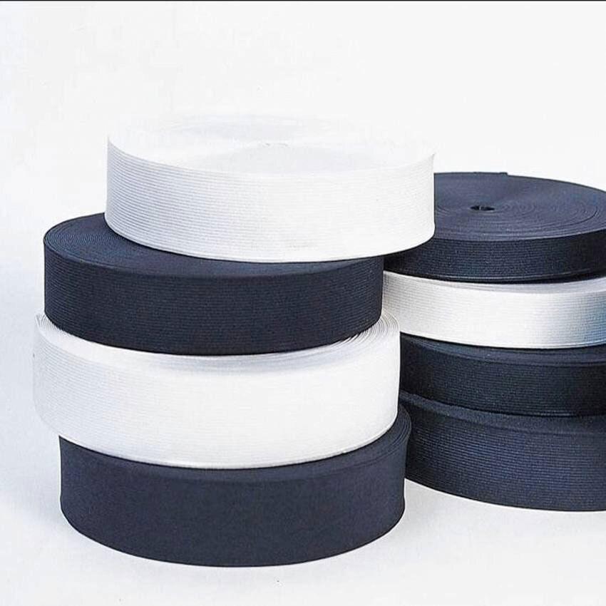 1,6-7,5 см 10 м/лот белая черная резинка спандексный Пояс отделка шитье/лента одежда гибкий швейный материал для шорт юбка траус