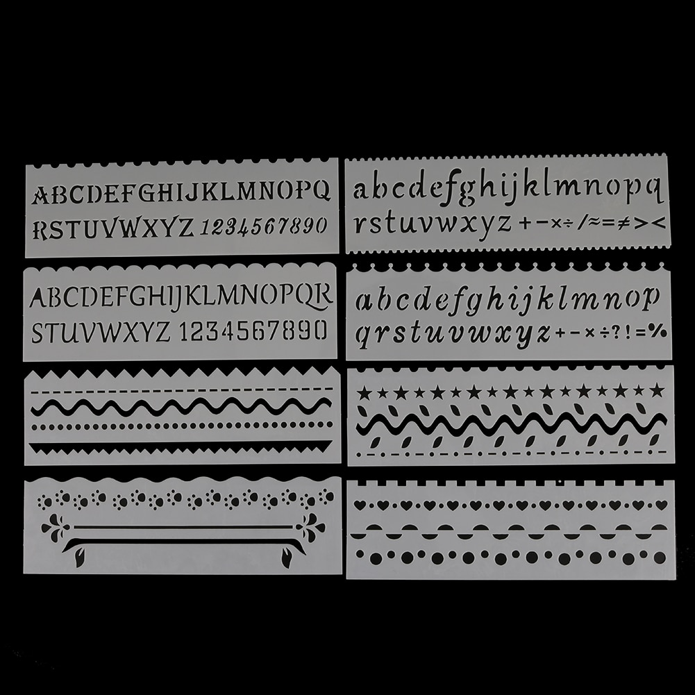 Letter Wave Shaped DIY Craft Hollow Layering Stencil For Wall Painting Scrapbooking Stamping Album Decorative Embossing Template