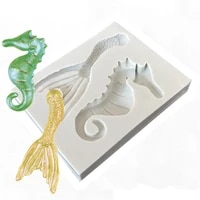 1pc hippocampus lace silicone resin molds baby birthday fondant cake decorating tools pastry kitchen baking accessories ftm1982