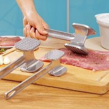 Steak tendre viande battre marteau cuisine ménage acier inoxydable frapper viande de boeuf en vrac YHJ121706