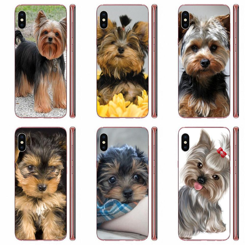 Yorkshire Terrier Dog Puppy For Samsung Galaxy A10 A20 A20E A3 A40 A5 A50 A7 J1 J3 J4 J5 J6 J7 2016 2017 2018 TPU Skin Painting