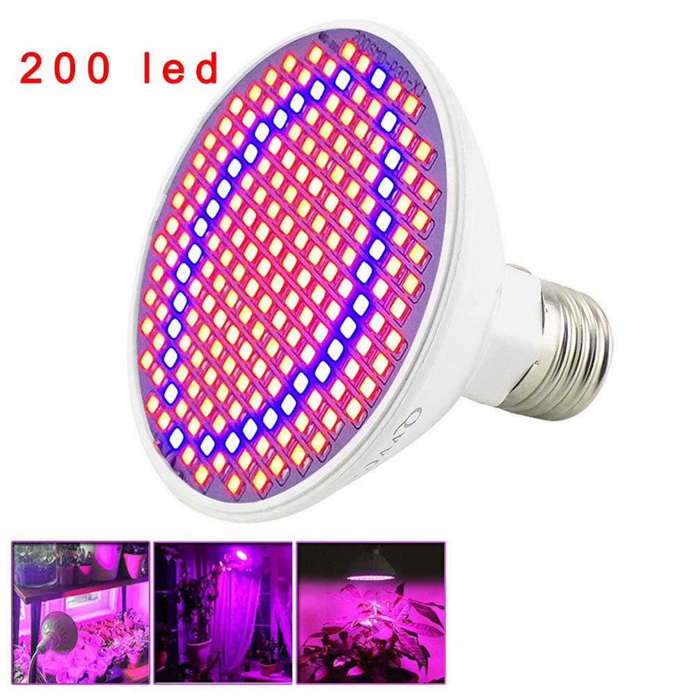 12 Вт 200 светодиодный завода светать Светильник лампы E27 лампа для комнатных растений роста цветов тепличное освещение для роста растений св...