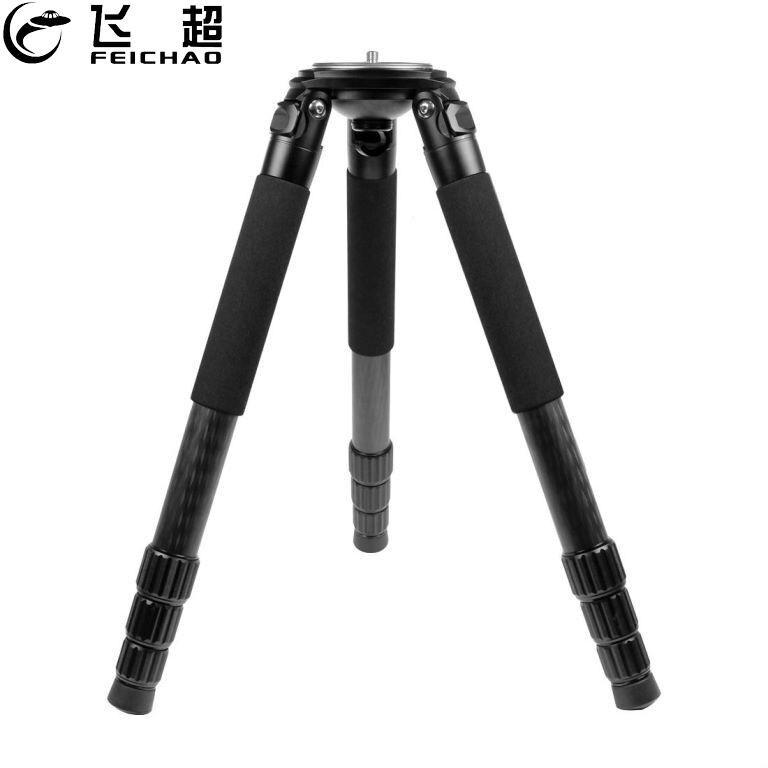 FEICHAO L404C ألياف الكربون الثقيلة المهنية مستقرة التصوير السلطانية حامل ثلاثي القوائم ل DSLR كاميرا رقمية فيديو كاميرا