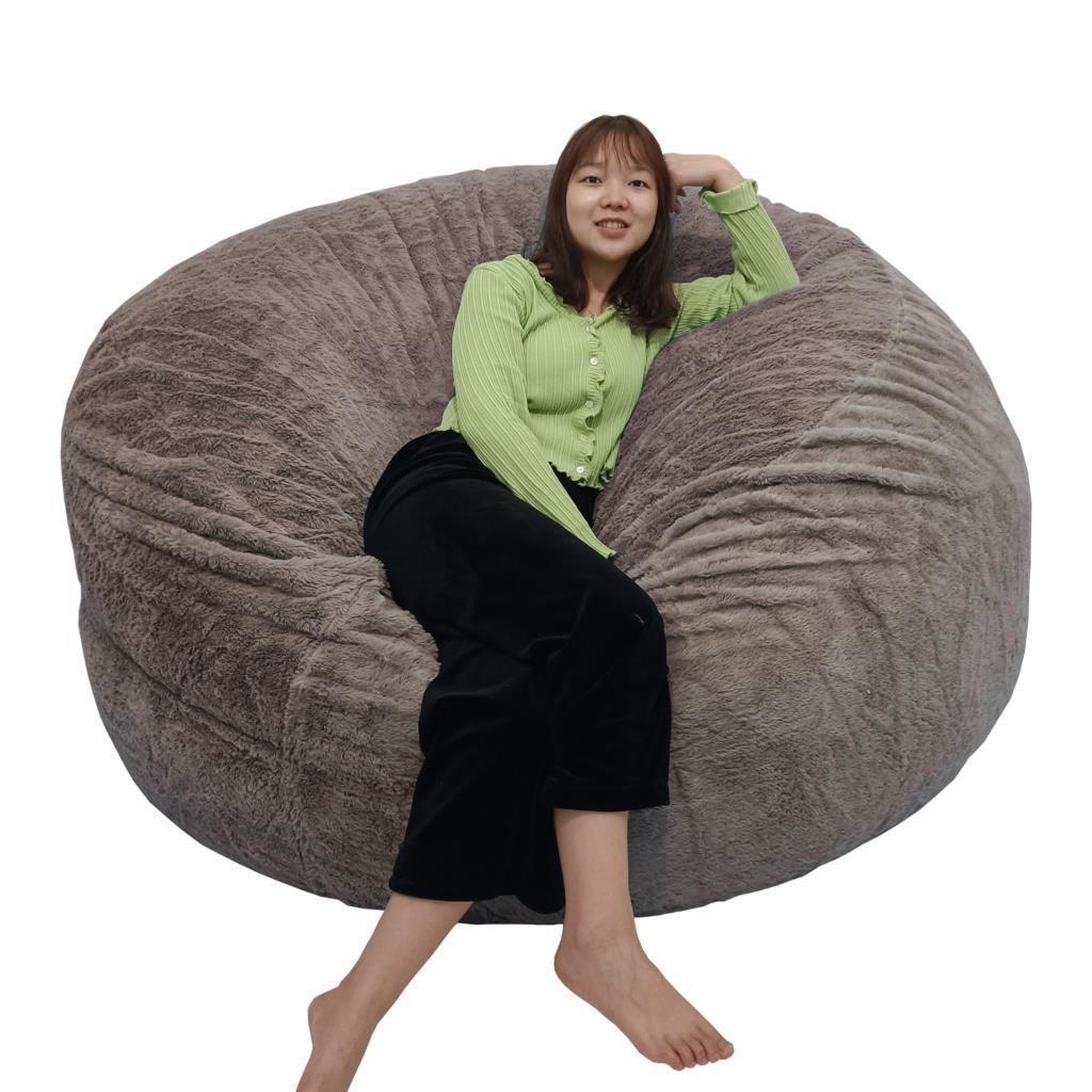 دروبشيبينغ لا حشو PV الفراء كيس فول غطاء أريكة العملاق فو الفراء Beanbag فوتون كرسي Pouf غطاء أريكة غرفة المعيشة أريكة سرير sa