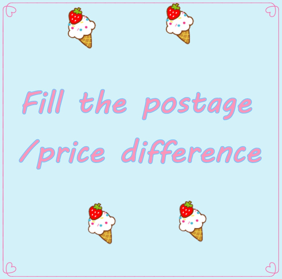 Preencha a diferença de preço de postagem