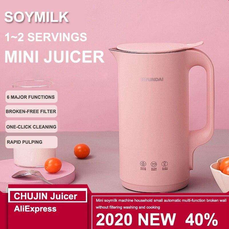 جديد صغير حليب الصويا المنزل 110 فولت 220 فولت صغيرة التلقائي متعددة الوظائف عصارة خلاط 350 مللي تصفية خالية فول الصويا ماكينة إعداد الحليب عصارة
