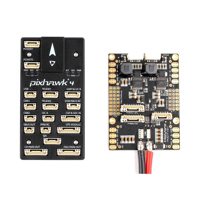 Holybro para Pixhawk 4 controlador de vuelo STM32F765 32 Bit ARM con PM07 gestión de energía 5V salida UBEC-caja de plástico