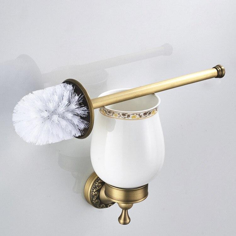 Vintage فرشاة المرحاض كوب و حامل دائم المرحاض قلادة مجموعة أجهزة الحمام اكسسوارات الحمام المرحاض السلطانية فرشاة