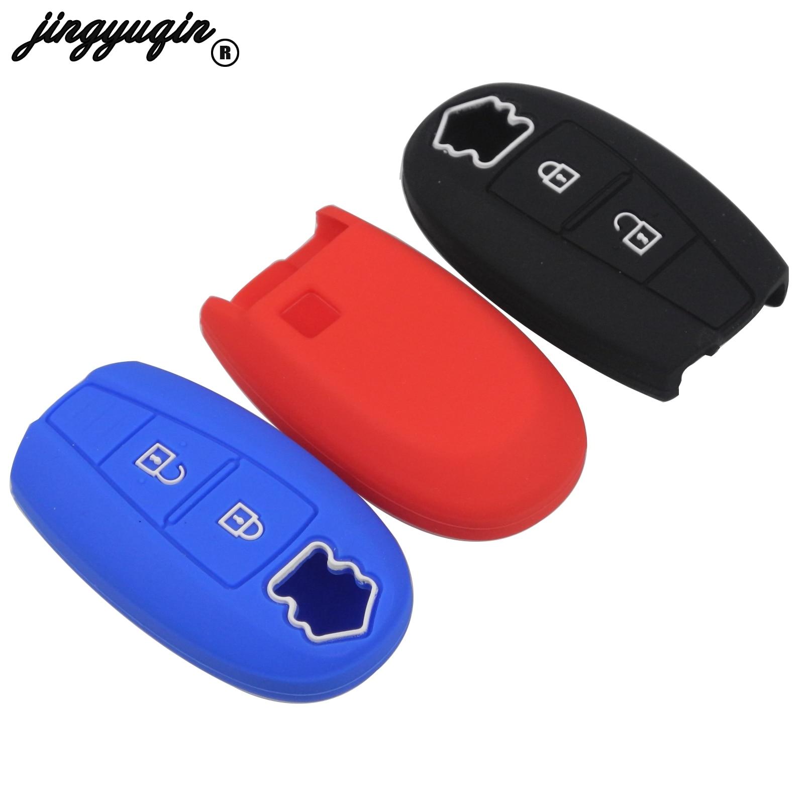Jingyuqin Silikon Abdeckung Smart Key Fall Für Suzuki Swift Kizashi SX4 S-Kreuz 2 Tasten Auto Keyless Fob Set haut Halter Schutz