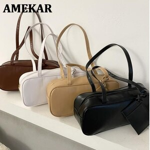 Female Vintage Hangbags 2021 New Trendy Casual Retro Fashion One-Shoulder Underarm Bags Large Capacity Baguette Bags