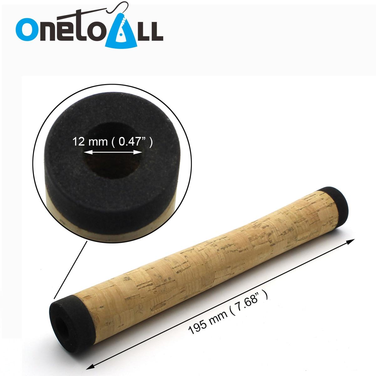 OnetoAll 10 PCs Fishing Rod Handle Composite Cork Grip DIY Fishing Pole Repair Kits Ultra Light Portable Spinning Fishing Rod enlarge