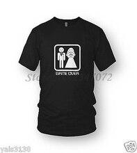 Game Over T-shirt Mens Grappig, Nieuwigheid, Gamer, Bruiloft, Stag Doen, hen Night Mannen Zomer Katoenen T-shirt