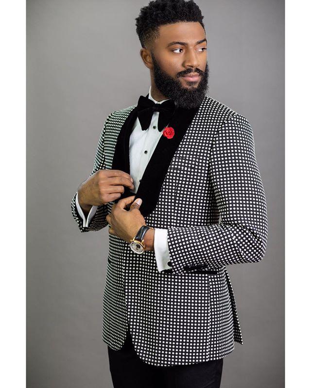 Мужской костюм в горошек, черный бархатный Свадебный костюм на заказ, приталенный смокинг жениха, пиджак + брюки + галстук, 2020
