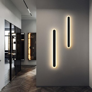 Modern Long Strip LED Wall Lamp Bedroom Living Room Aisle Stairway Wall light Dimming Sofa Background Decoration Light Luminaire