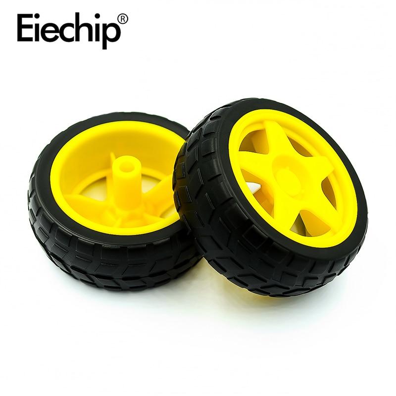 1 шт. шина для двигателя TT, колесо для робота, резиновая шина для гоночных автомобилей, автомобильная резиновая деталь, подходит для игрушечн...