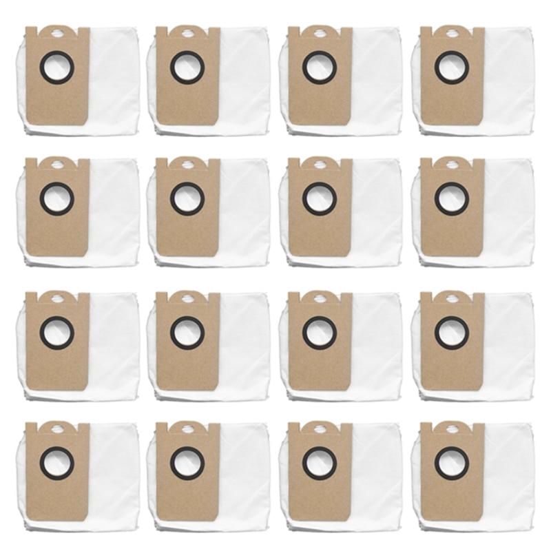 16 قطعة ل VIOMI S9 جهاز آلي لتنظيف الأتربة كيس لجميع الغبار نظافة قدرة كبيرة مانعة للتسرب كيس لجميع الغبار استبدال طقم قطع غيار