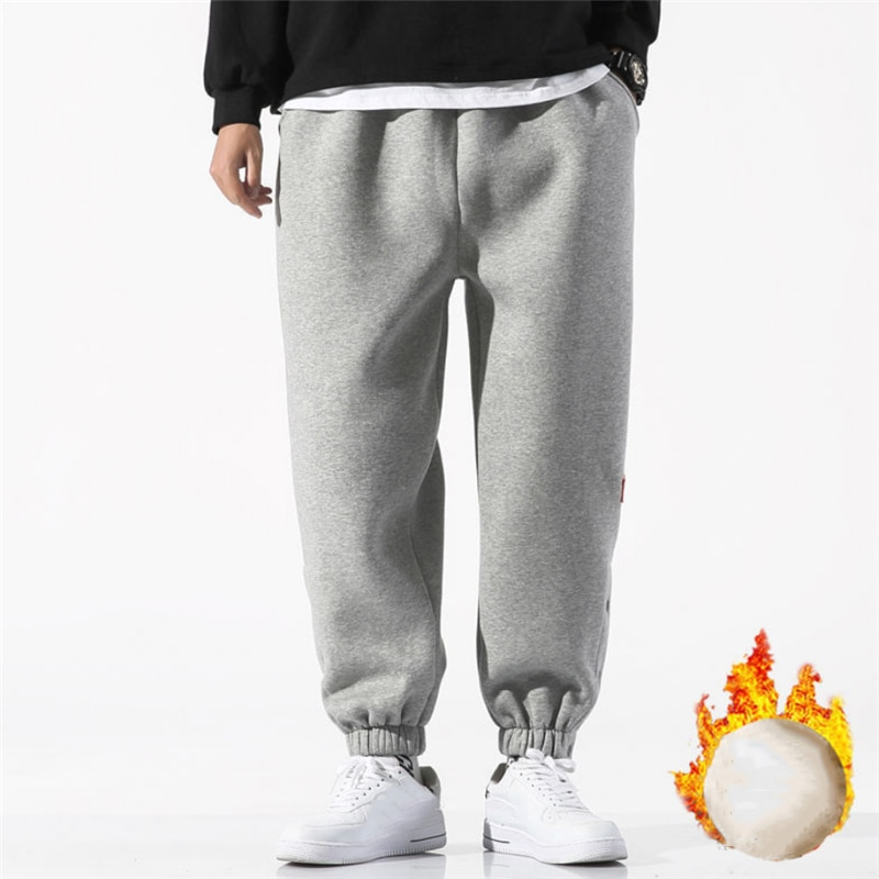 2021 Trendy Sweatpants Men Loose Trousers Autumn Winter Outdoor Sport Comfortable Male Warm Jogging Pants Pantalons Pour Hommes