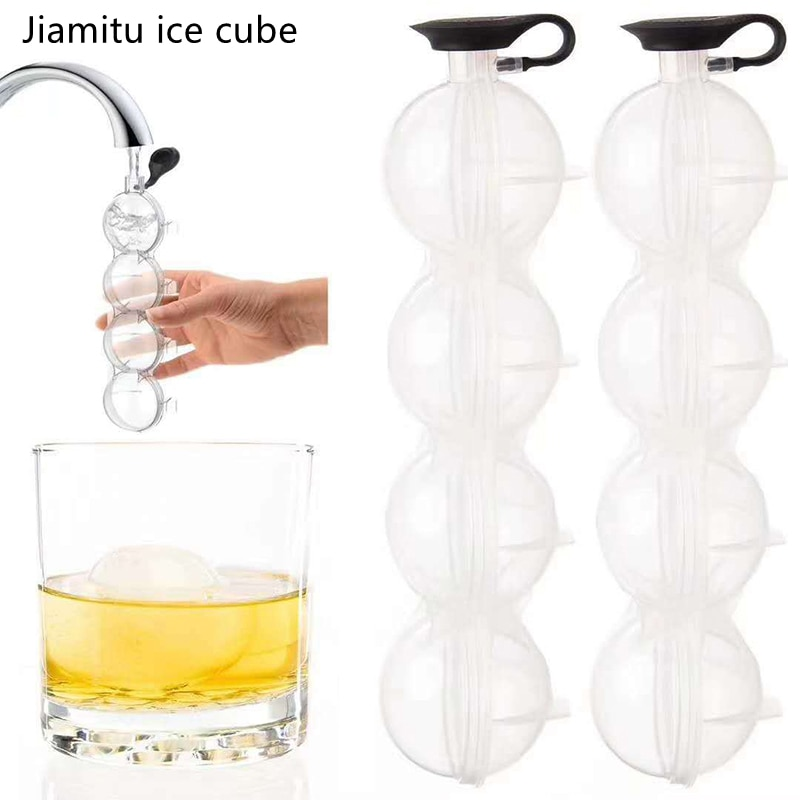 Форма для изготовления кубиков льда, Гибкая силиконовая форма для приготовления льда, круглых шариков «сделай сам» для виски, коктейлей, ба...