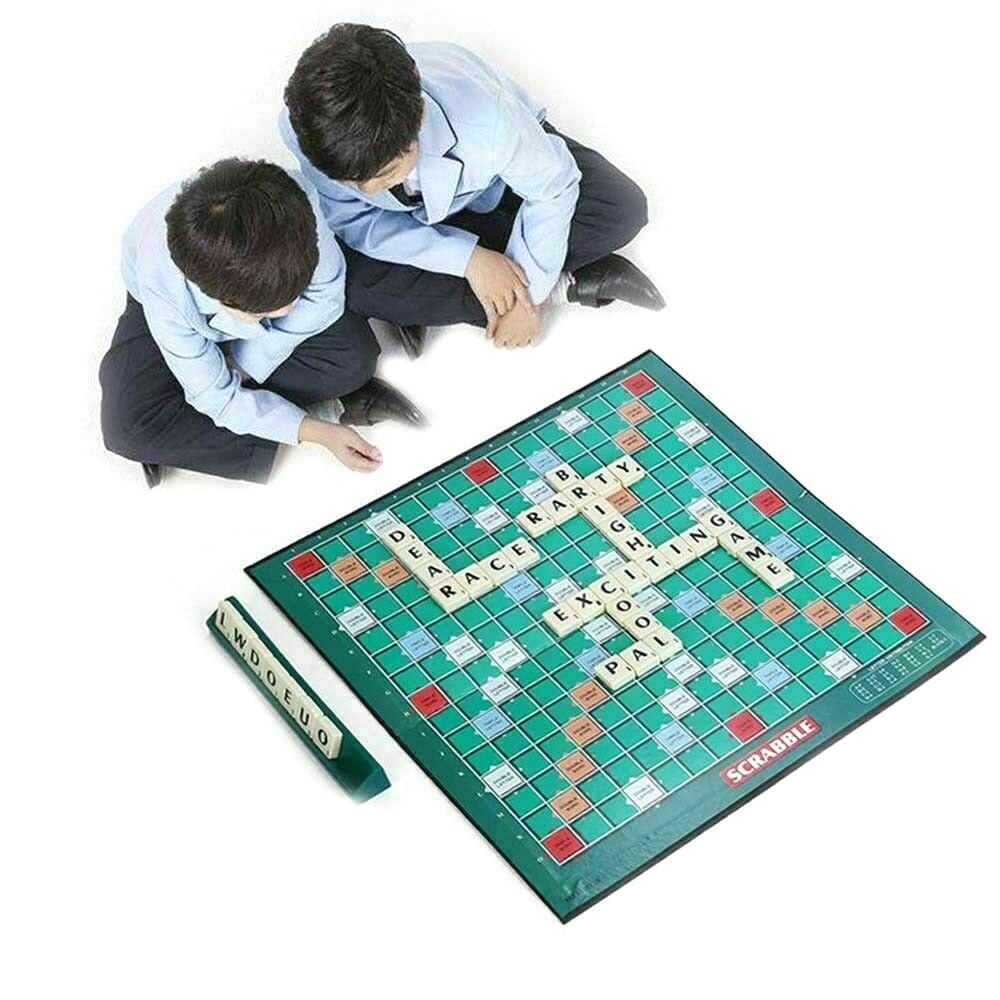 Juego de mesa educativo Scrabble, crucigrama, letras en inglés, juego de rompecabezas, niños aprendiendo inglés, juguete de rompecabezas de mesa
