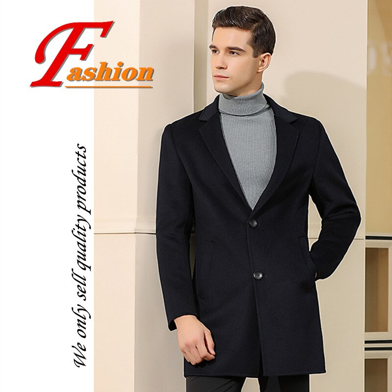 High-grade new style men's business casual soft colorfast comfortable fashion breathable keep warm no-iron personality wool coat